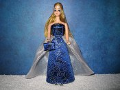 SAPPHIRE MIST gown with purse