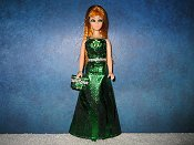 Emerald Spark gown with purse