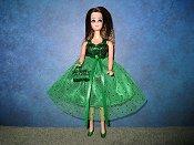 Emerald Sparkle Dress with purse