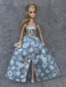 Euro Bewitched style blue with circles gown