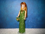 Eyelash Apple Green Slim Gown
