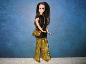 Black And Gold Tinsel Tunic