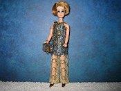 Blue & Gold Eyelash mini with lace pants