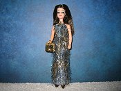 Blue and Gold Slim gown (Angie)