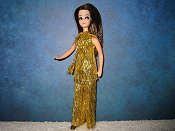 Gold Eyelash Tinsel Tunic with purse