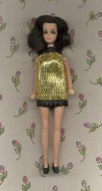 Gold Eyelash Mini--BLACK trim