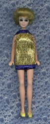 Gold Eyelash Mini--BLUE trim
