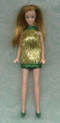 Gold Eyelash mini--GREEN trim