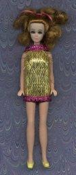Gold Eyelash mini--PINK trim