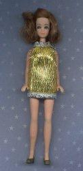Gold Eyelash mini--SILVER trim