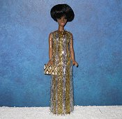 Eyelash Gold and Silver slim gown PREORDER