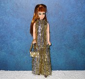 Tinsel Tunic Gold and Silver Stripe