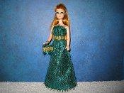 Green Eyelash Gown