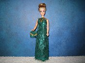 Green Eyelash Slim style gown