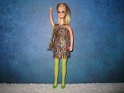 Pink and Green Dancing mini with stockings