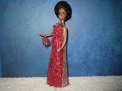 Eyelash Pink Stripe Slim gown