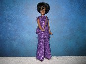 Purple Tinsel Tunic with purse