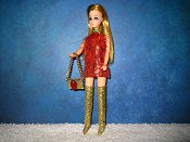 Eyelash Red Gold Mini purse leggings