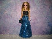 Eyelash Turquoise Black Gown