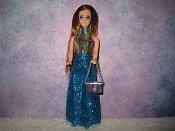 Eyelash Turquoise 2 piece pant set for Dancing dolls