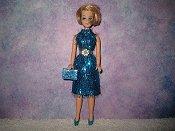 Eyelash Turquoise Slim Dress