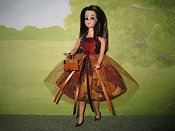 Leaves tulle Dress with purse