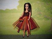 Burgundy Stripes Dress