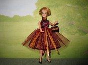 Stripes Dress with purse
