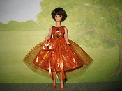 Tangerine Tulle Dress with purse