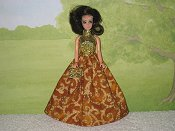 AUTUMN GOLD gown with purse