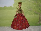 AUTUMN LEAVES gown with purse