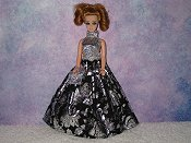 BLACK & SILVER gown with purse