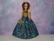 BLUE DAHLIA gown with purse
