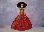 CRIMSON GLORY gown with purse