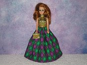 DOUBLE DIAMOND gown with purse
