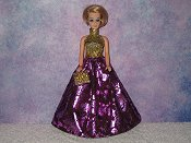 FUSCHIA FLASH gown with purse