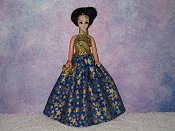GOLD STARS ballgown with purse