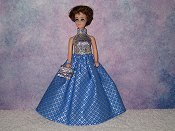 PERIWINKLE DIAMONDS gown with purse