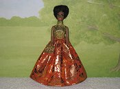 TANGERINE DREAM gown with purse