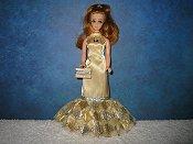 Gold & Silver Diamond Fishtail gown