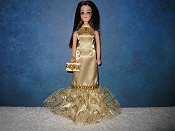 Gold Ovals Fishtail Gown