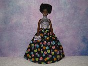 SPARKLING FLOWERS gown with purse