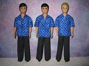 Gary Blue shirt & black pants