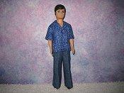 Gary Blue shirt & blue pants