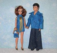 Blue Swirl Gary & Dawn outfits