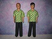 Gary Green Diamond shirt & black pants