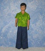 Lime shirt & denim pants