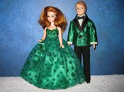 Emerald Confetti gown & Tuxedo set