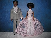 Gray with pink Tuxedo & coordinating gown