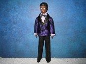 Purple and black Tuxedo